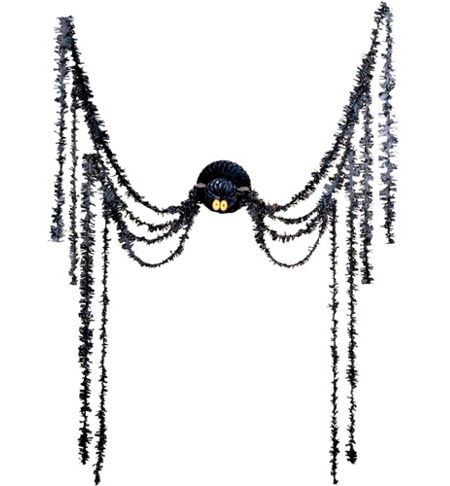 spider all in one party decoration 20 paper tinsel spider decoration - Spider Decorations