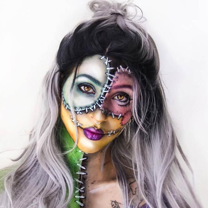 21 Spicy Halloween Face Makeup Ideas Halloween face makeup - face makeup ideas for halloween
