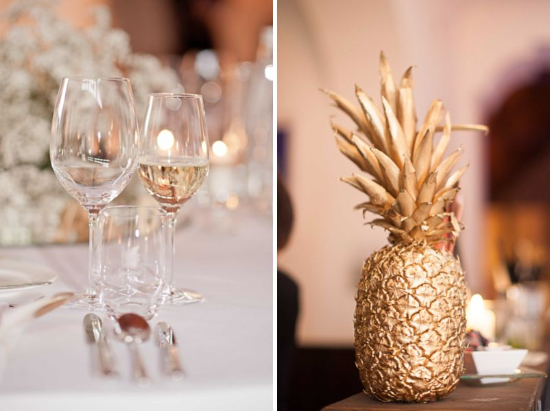 Tischdeko Fur Eine Hochzeit Im Stil Der 20er Jahre Mit Goldener