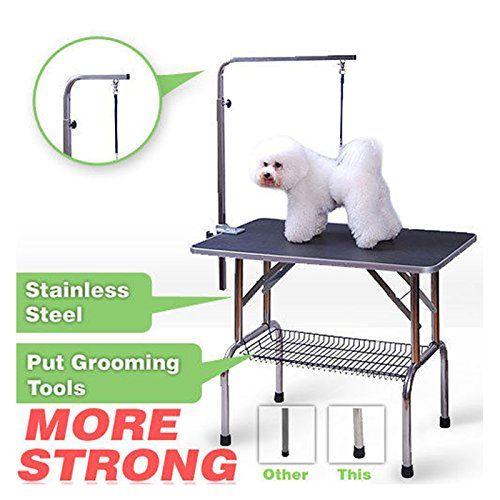 Polar Aurora 46 Foldable Grooming Table Heavy Duty Portable Pet Dog Cat Profession Dog Show Fold Dog Show Dog Ramp Pet Dogs