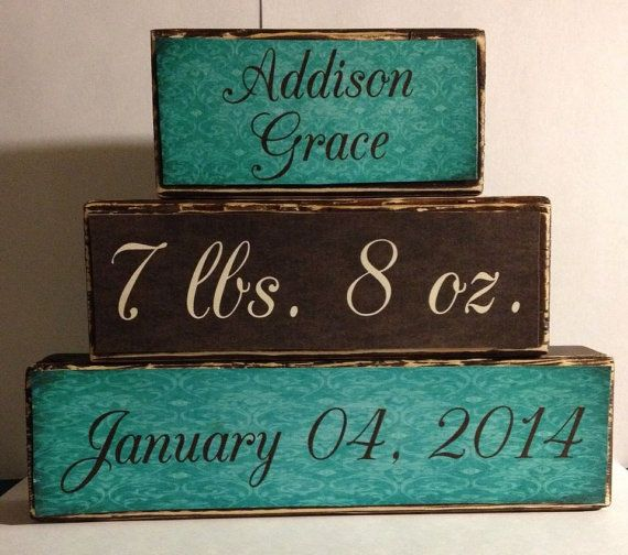 Personalized baby name stacker wood block set baby girl stat set personalized baby name stacker wood block set baby girl stat set name weight date of birth baby shower gift nursery decor gift new mom negle Gallery