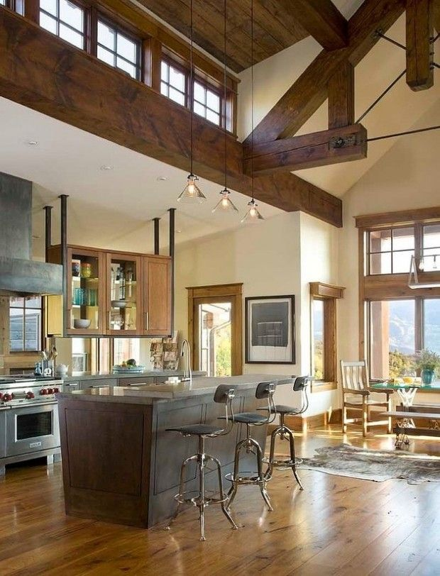 Manufactured Home Decorating Ideas Modern Country And Industrial: Industrial Meets Country In This Rustic Retreat - Open Kitchen