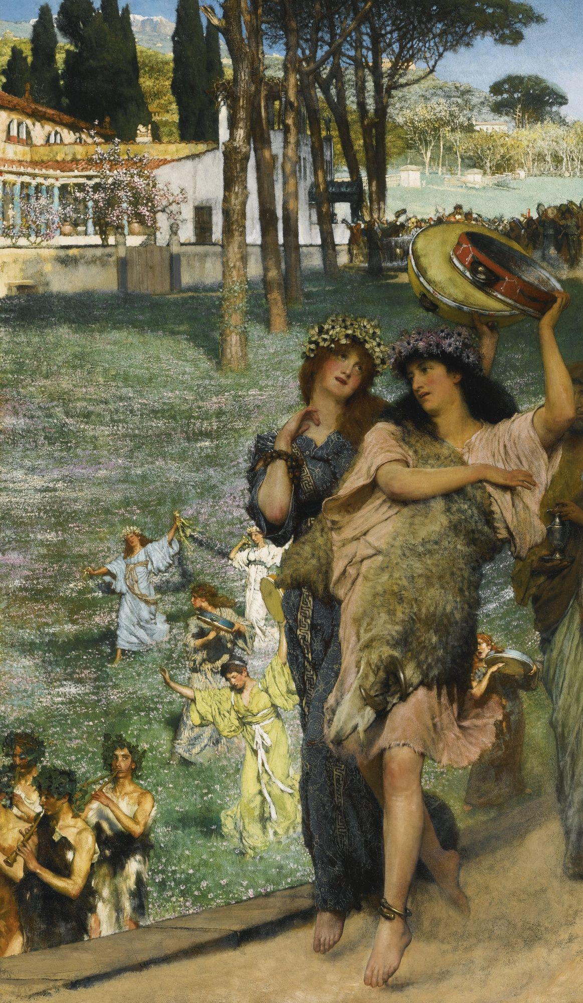 Sir Lawrence Alma-Tadema, A Spring Festival, or On the Road to the Temple of Ceres), oil on canvas, 89 by 53.3 cm,