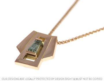 Art deco inspired pendant