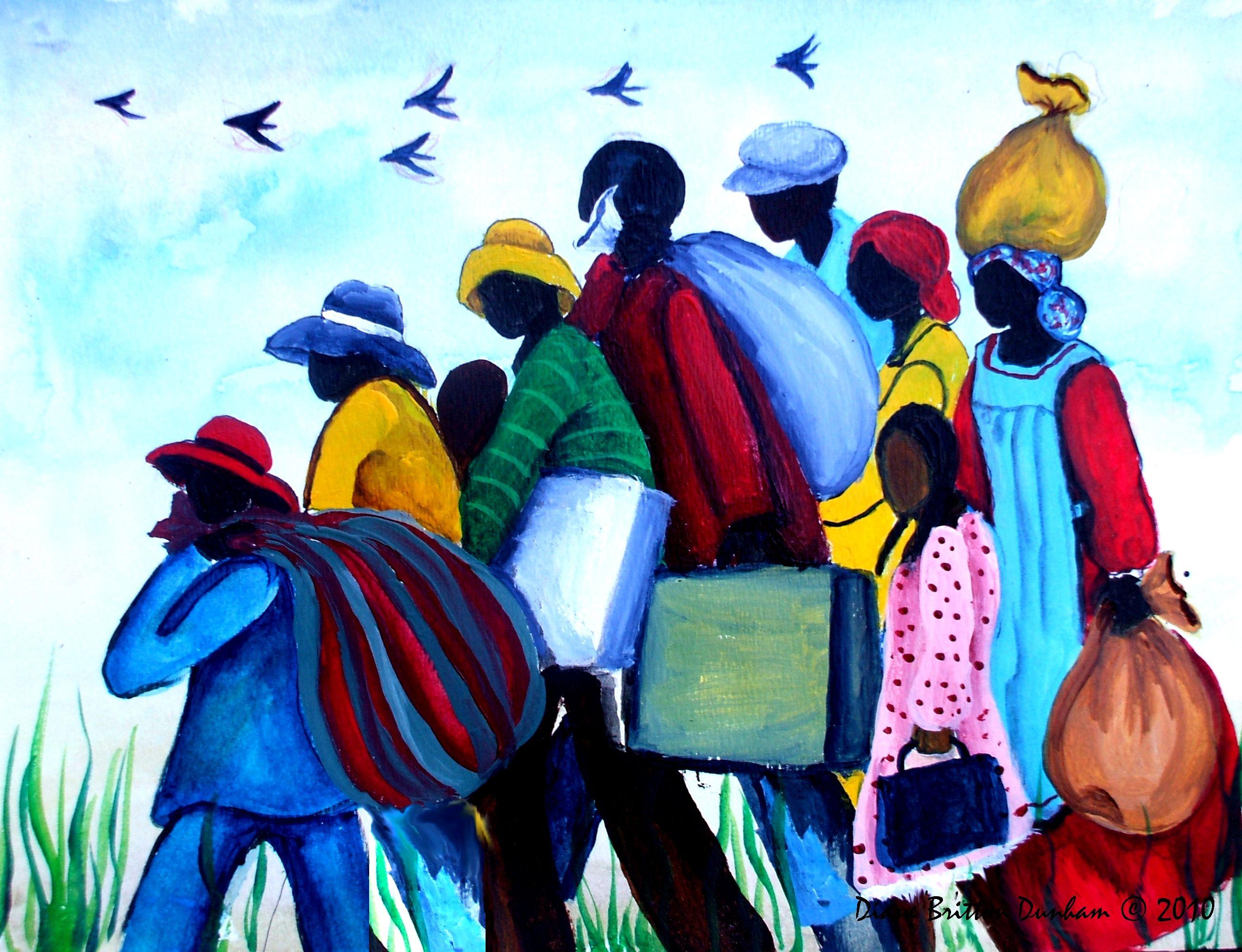 """Gwain North, The Great Migration"" by Diane Britton Dunham"