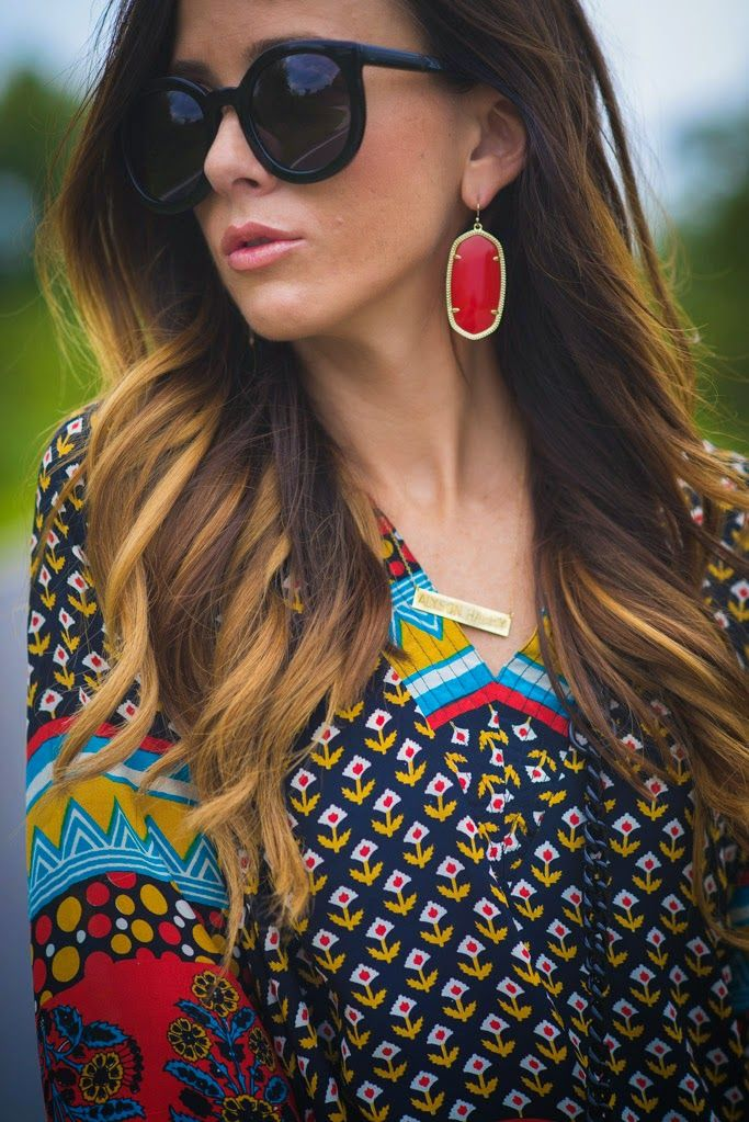 71d9ee922b6c bright red Kendra Scott Danielle Earrings