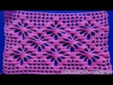 Crochet punto ara itas tejido en forma cuadrada para - Puntos para tejer ...