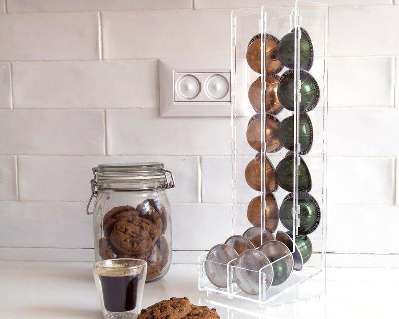 Clear Nespresso Vertuoline Coffee Pod Holder, Small Vertuo