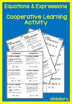 This is differentiated learning activities that can be used when introducing algebraic expressions and equations to your students. It meets and exceeds common core standards for mathematics.