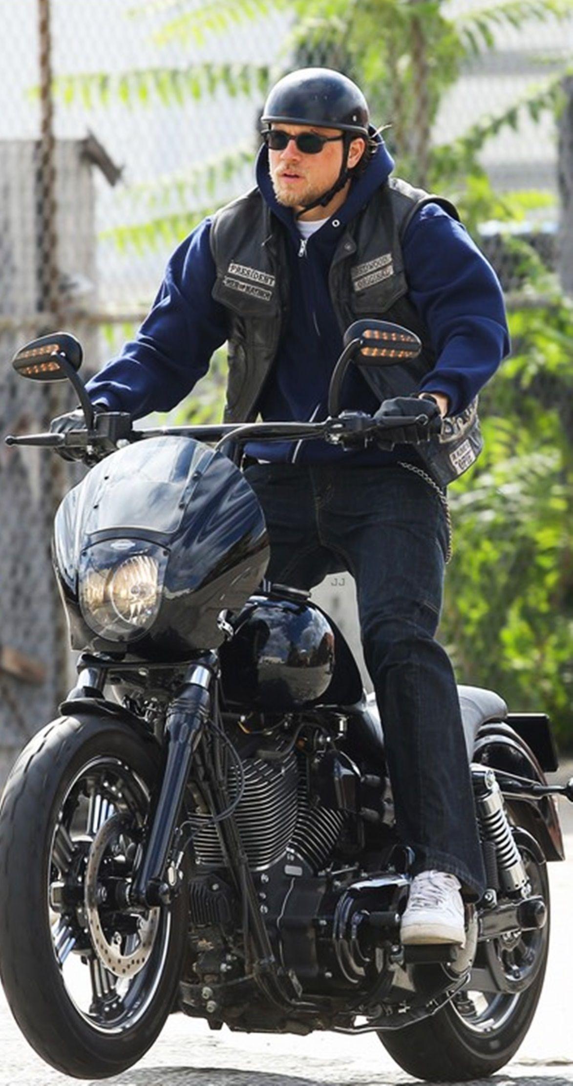 Yea you ride that harley Jax . SOA . Charlie Hunnam   Male ...