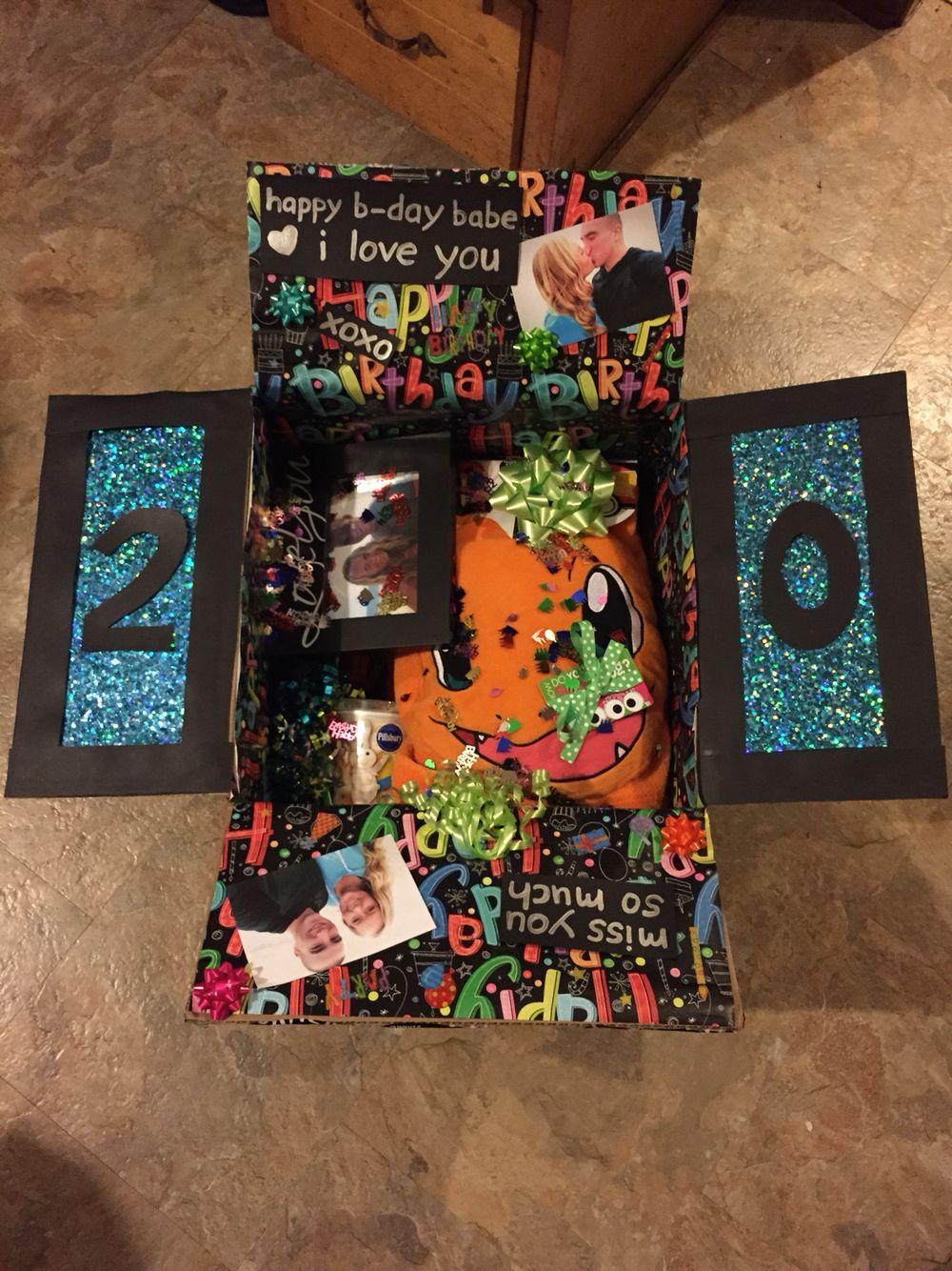 birthday care package for my boyfriend! Birthday care