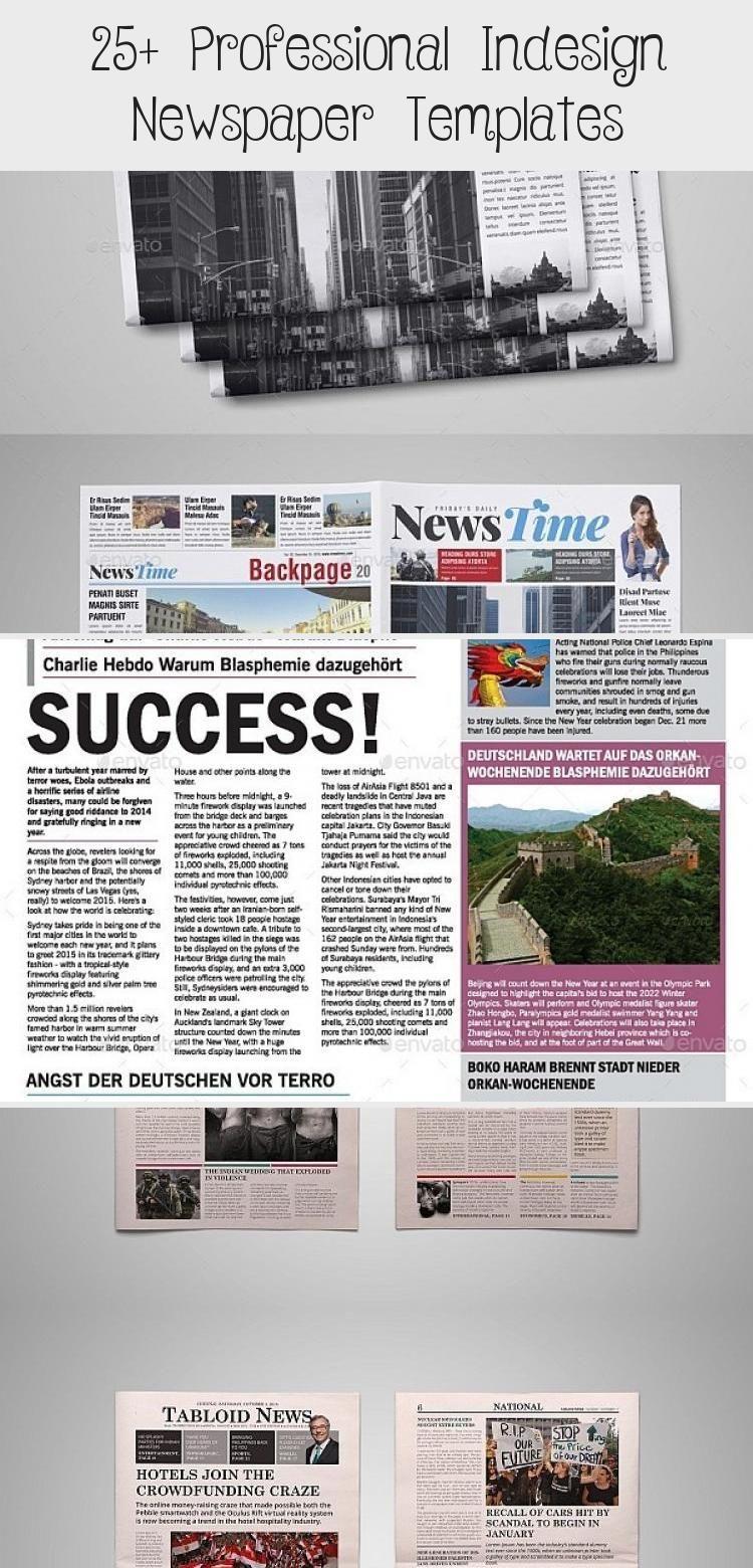 30 Professional Indesign Newspaper Templates Indesign Newspaper