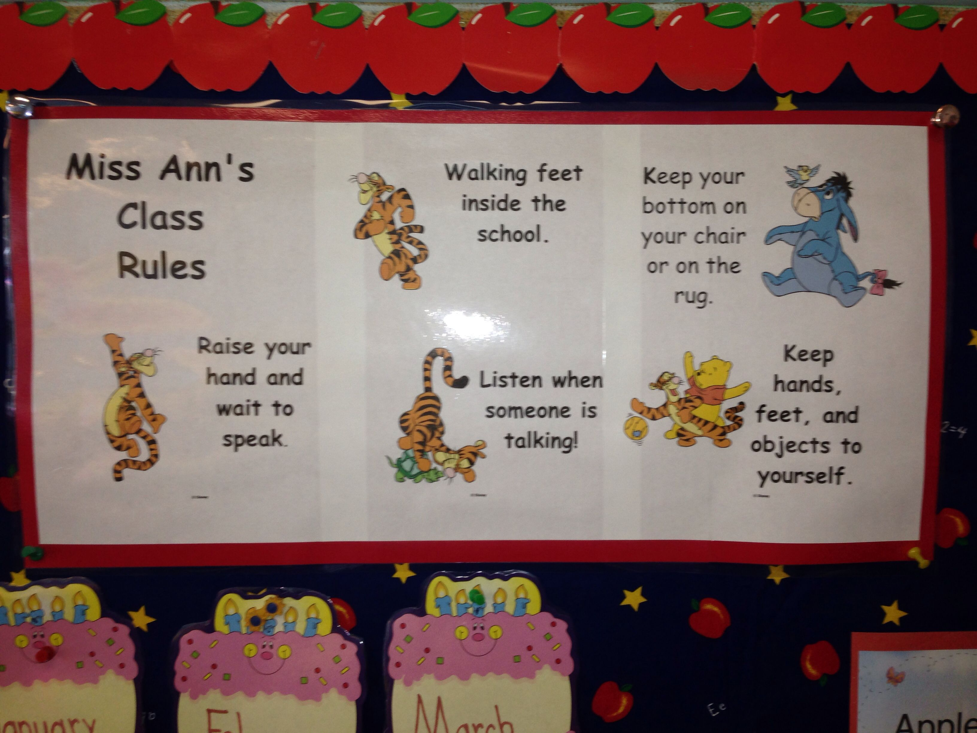 I Use My Pooh Print Shop To Illustrate My Classroom Rules