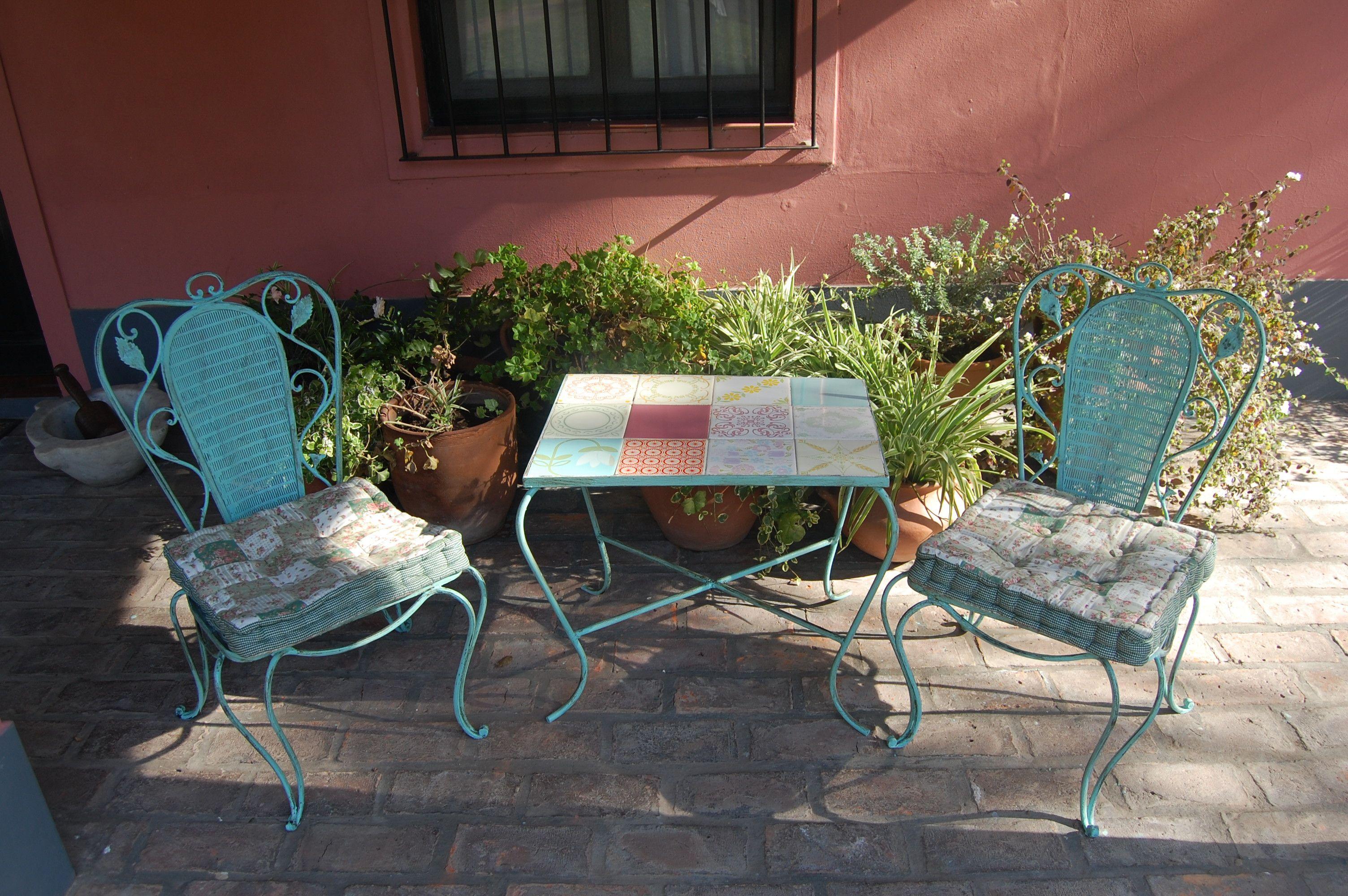 Mesa de Hierro con azulejos | Hierro forjado | Pinterest | Unique ...