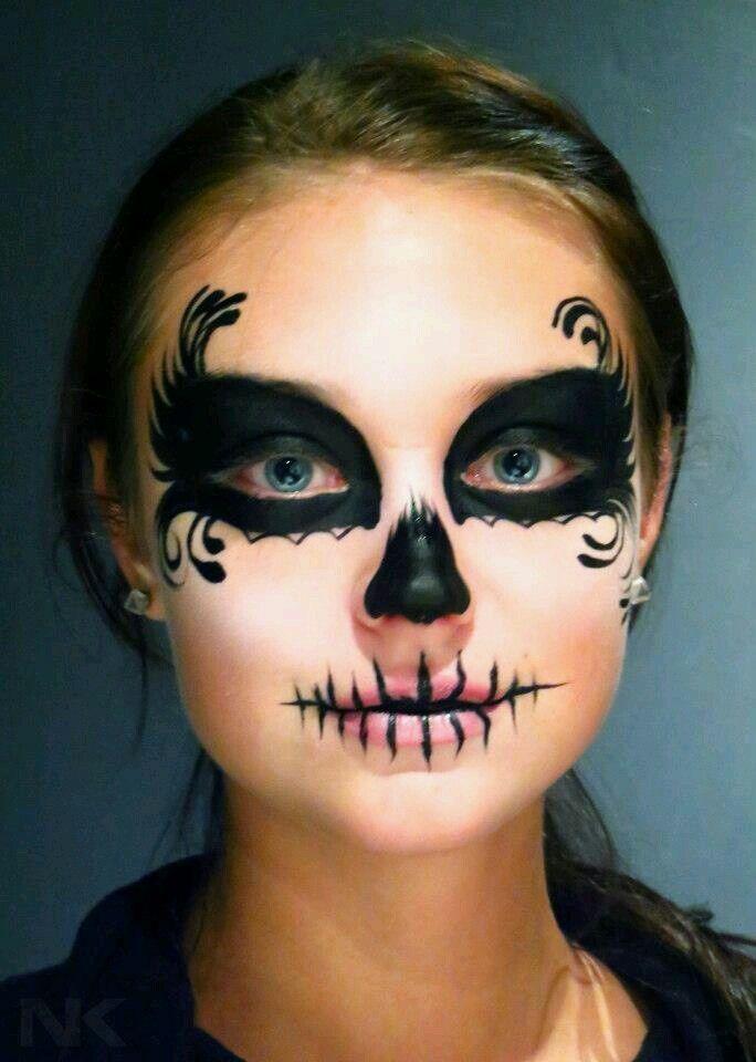day of the dead skull face paint natasha kudashkina painting - Skull Face Painting Ideas For Halloween