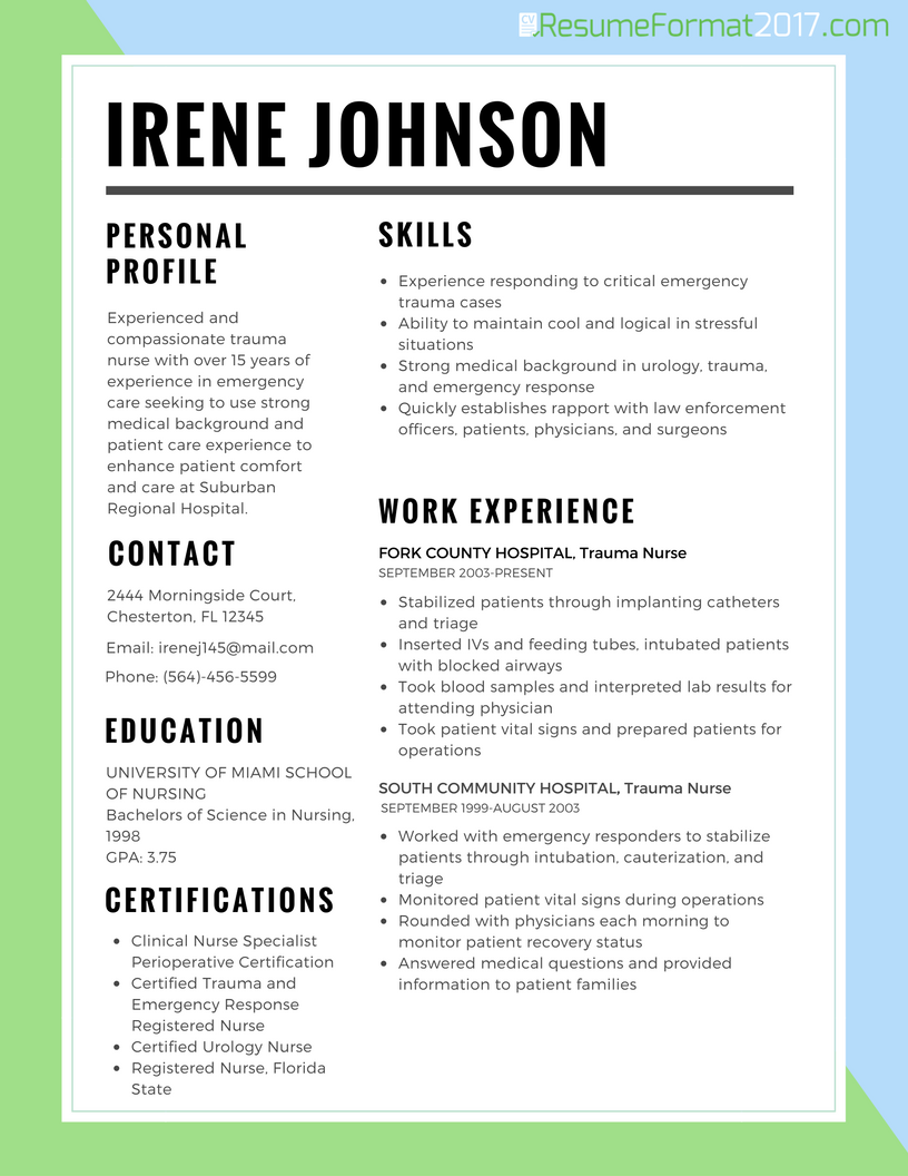 resume format template 2017 format resume template resume