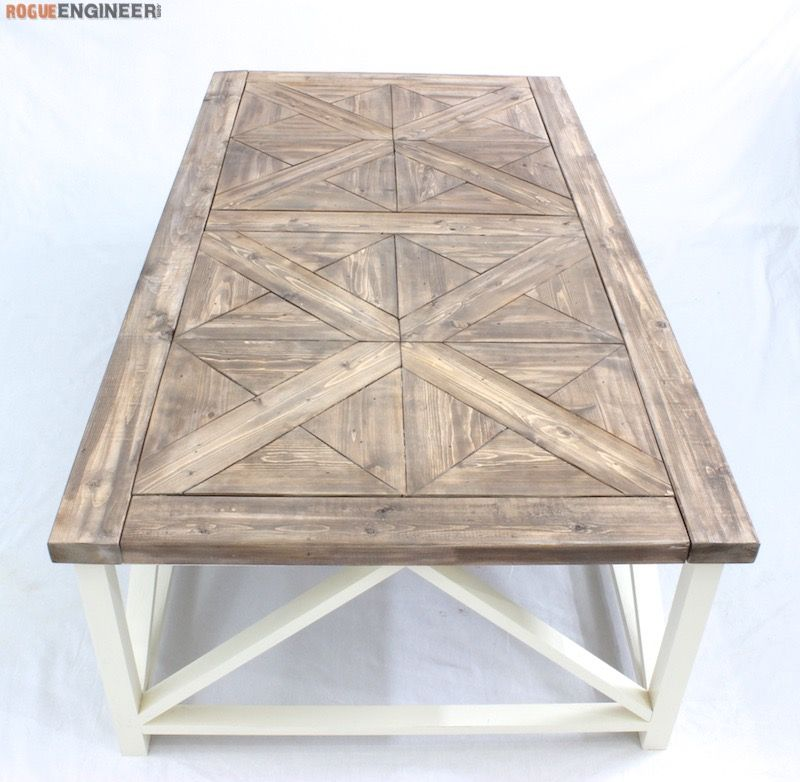 DIY Parquet X Brace Coffee Table Engineers Table plans  : b78cf9ffc5198aad6fc19fe90ecc13d6 from www.pinterest.com size 800 x 782 jpeg 132kB