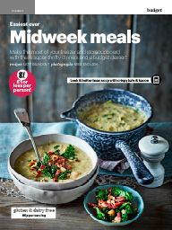 February 2017 Sp£nd less eat better: Easiest ever midweek meals: Leek & butter bean soup with crispy kale & bacon