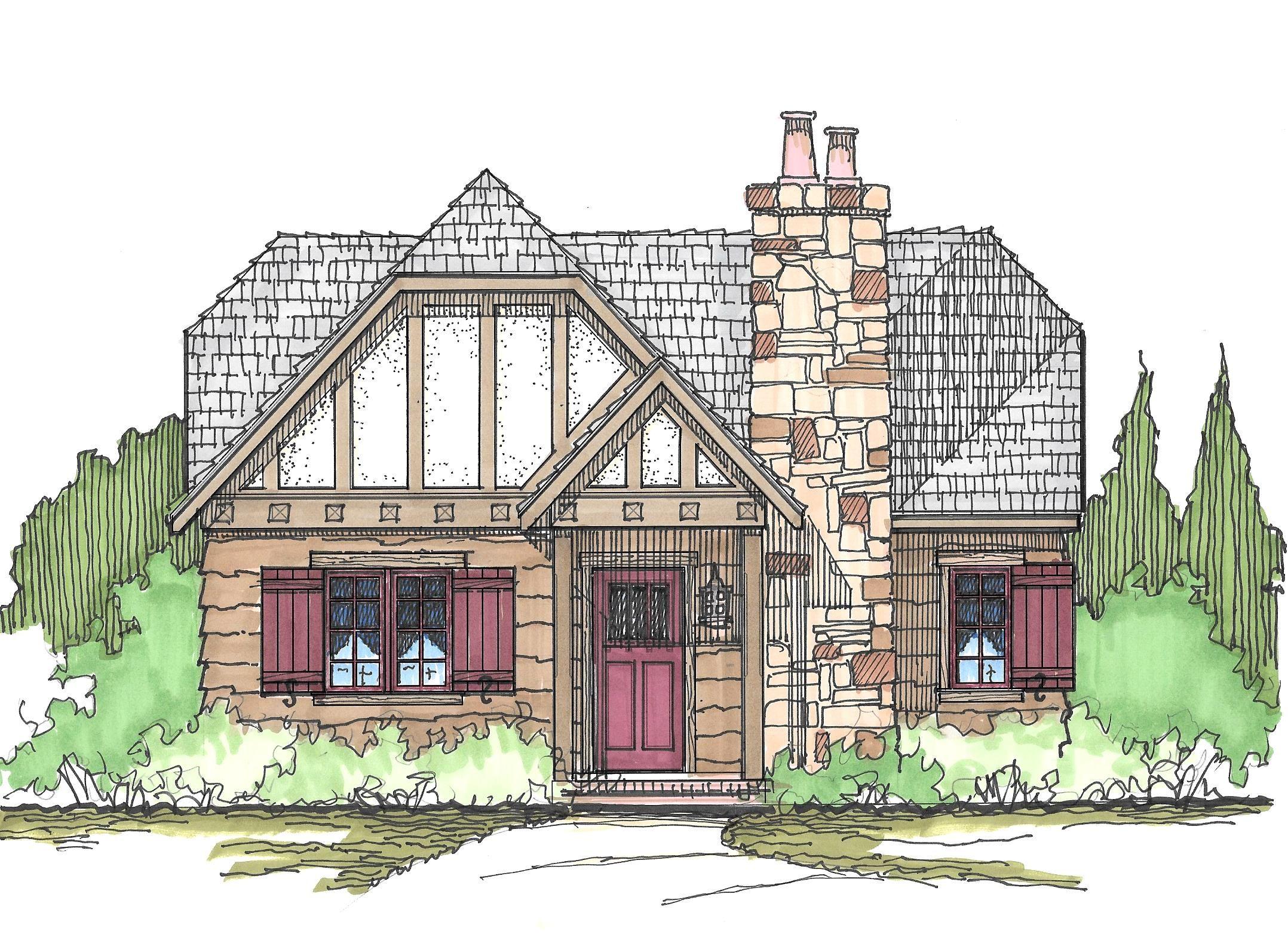 A small tudor cottage 2 bedrooms 1 bath 982 square feet