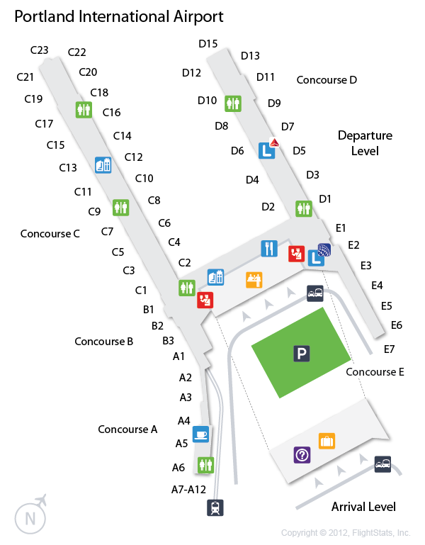 PDX) Portland International Airport Terminal Map | airports