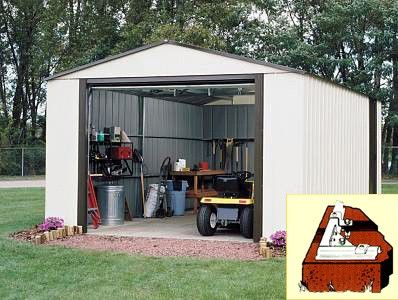 Arrow Vinyl Murryhill 12x17 Storage Shed Steel Storage Sheds Metal Storage Sheds Shed Storage