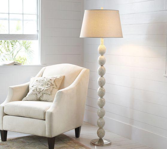 Jolie Mother Of Pearl Floor Lamp Base Pottery Barn