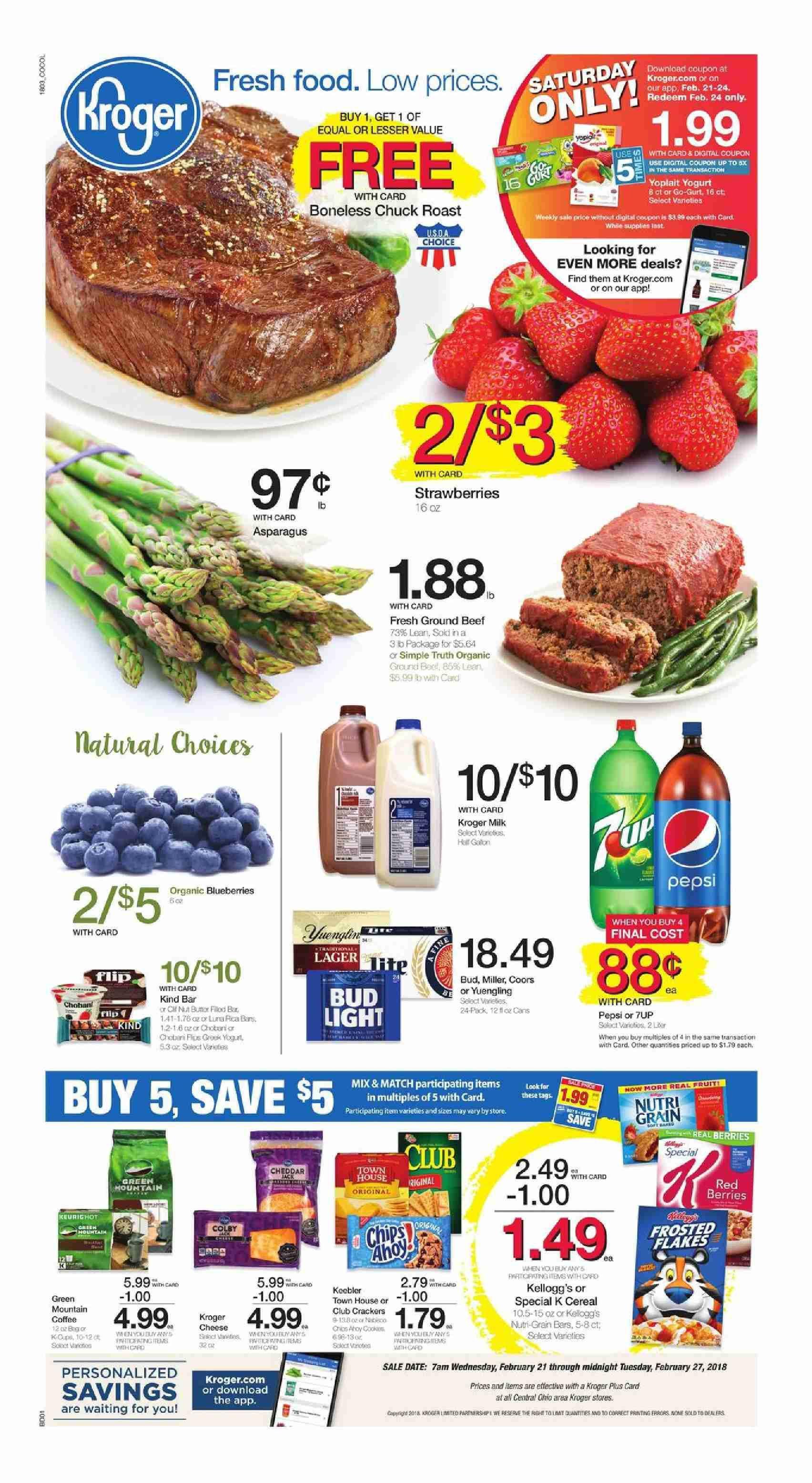 Kroger Weekly Ad Flyer March 11 17 2020 Weeklyad123 Com Kroger Weekly Ads Food