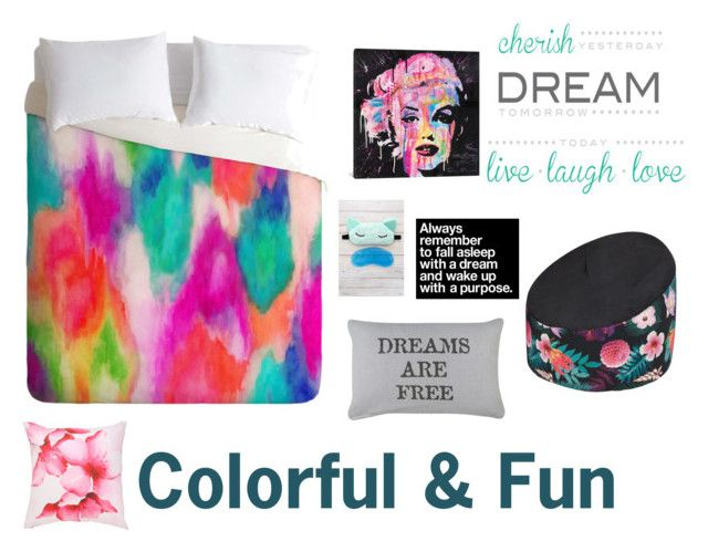 """Colorful Room"" by lol22-2000 ❤ liked on Polyvore featuring iCanvas, Brewster Home Fashions, Mirabello, Park B. Smith and Americanflat"