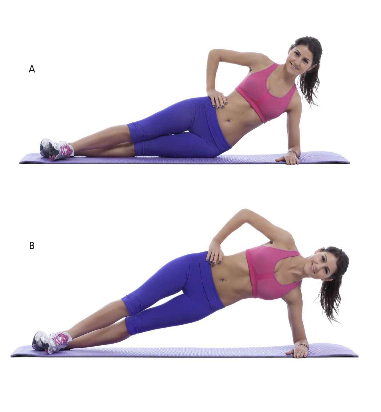 Bauch Muskeln stärken mit Side Planks | Sport | Pinterest | Bauch ...