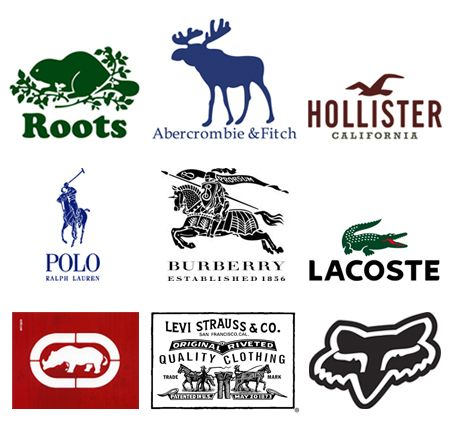 Designer brand logos designer brand logos pinterest for Popular mens shirts brands