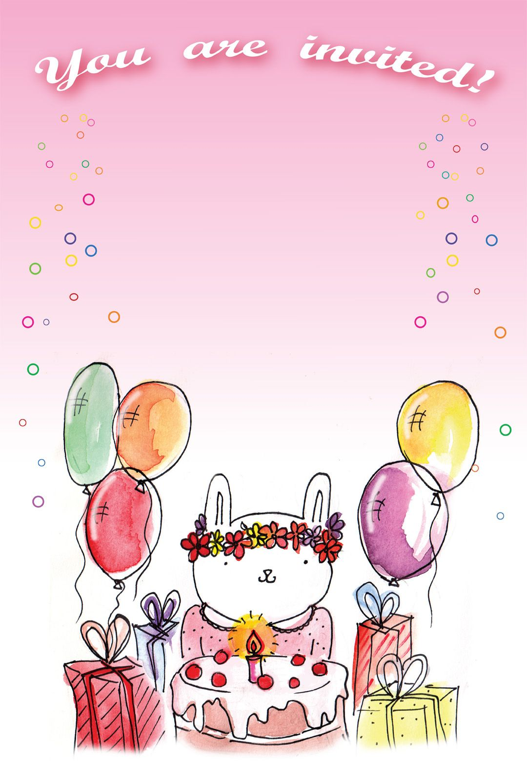 Free Printable Birthday Bunny Invitation  Kids birthday