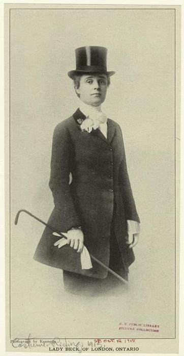 Lady Beck Of London Ontario 1915 Ca English Riding Riding Habit Lady