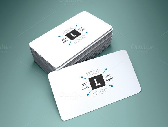 Rounded corner business card mockup by mockyeti on creative market business cards fbccfo