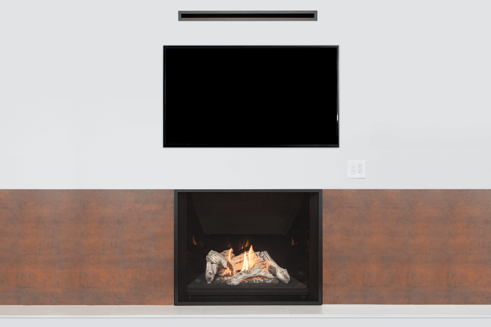 Valor Heatshift Technology H6 Series Gas Fireplace Wall Mounted Tv Mounted Tv