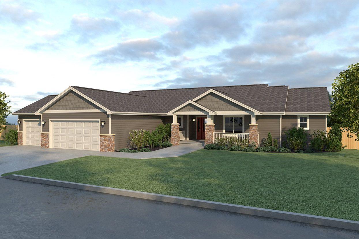 Ripple Cove Home Plan Rambler House Simple Ranch House Plans