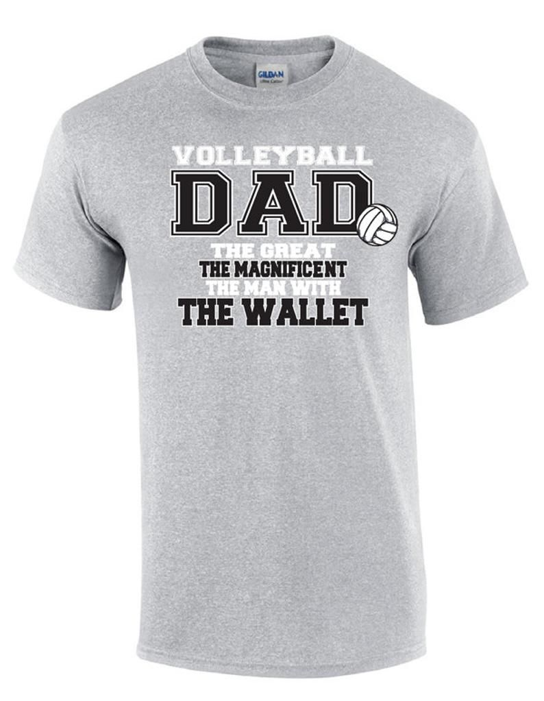 Volleyball Dad Wallet Volleyball T Shirt Etsy In 2020 Volleyball Tshirts Volleyball Shirt Designs Volleyball Outfits