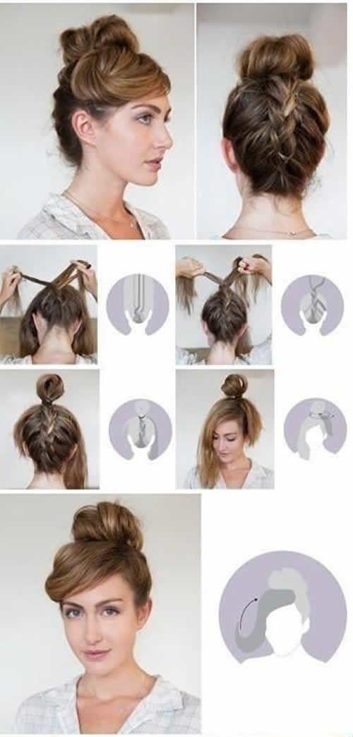 Peinados Altos Sencillos