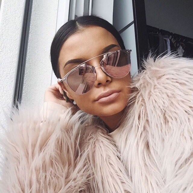 dior reflected sunglasses pink