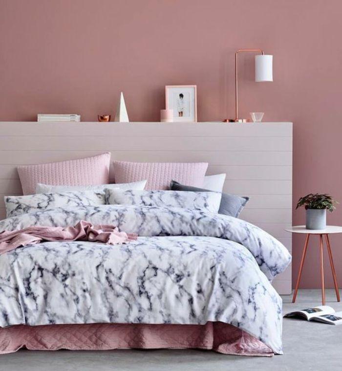 ▷ 1001 + idées pour chambre rose et gris, les nouvelles tendances - Peindre Table De Chevet