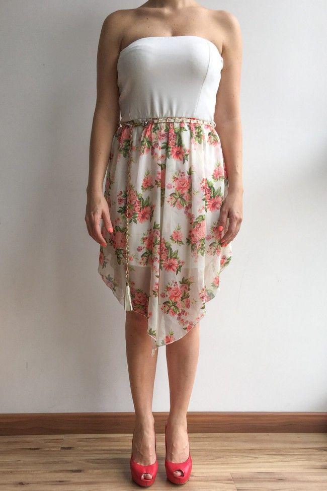 Vestidos en velo estampado cortos