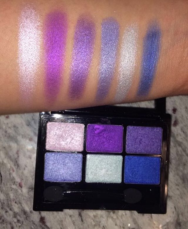 Santee Sexy Colors 6 Eyeshadow Kit in #6 | Miss A Makeup Swatches ...