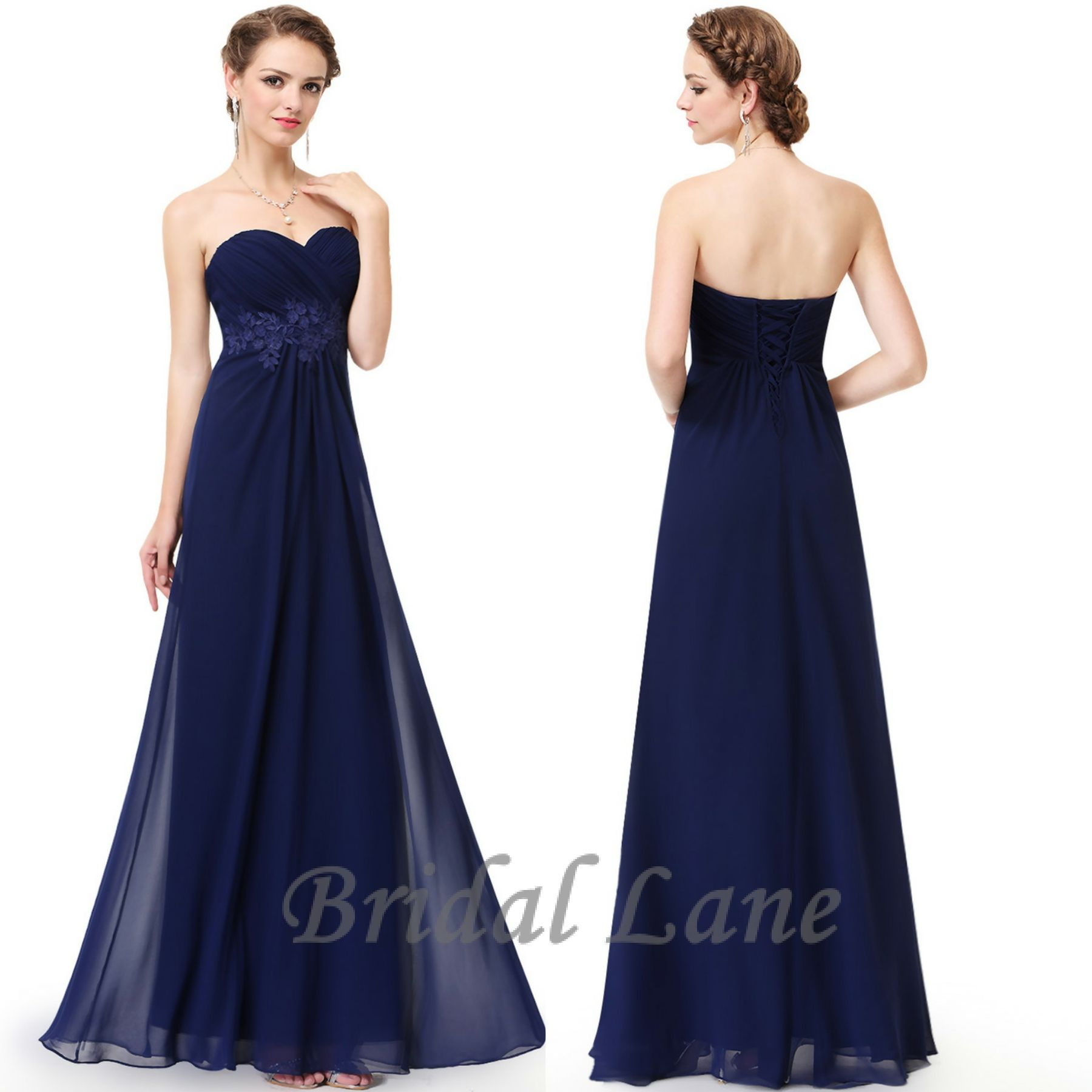 Matric dance dresses matric farewell dresses evening dresses pictures - Strapless Navy Blue Evening Dresses With Lace Up Back Detail For Matric Ball Matric Farewell