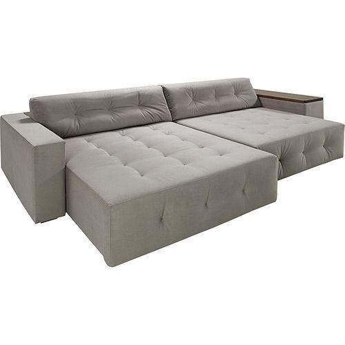 Tremendous Sofa 4 Lugares Com Assento Retratil Theon Tecido Cinza Pdpeps Interior Chair Design Pdpepsorg