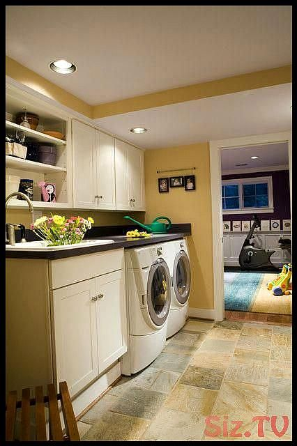 Basement laundry room ideas DIY design unfinished makeovver curtains small remodel organization plumbing floor finished shelves layout cBasement laundry room ideas DIY de...
