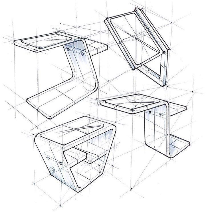 Good Use Of Construction Lines It S Clear How The Sketch Was Created Credi Construction Lines Line Sketch Design