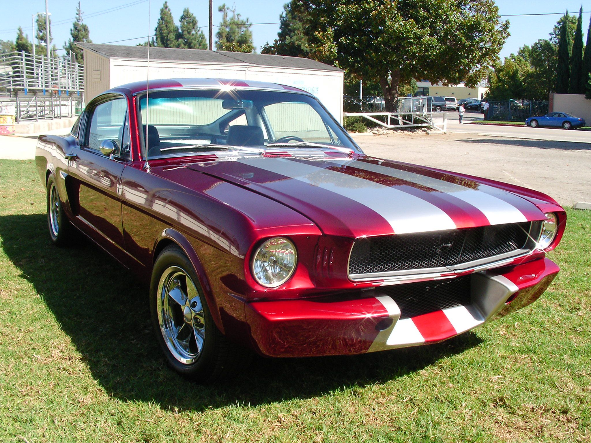 Top 10 Favorite Colors Metallic Red Silver Stripes 1965 Mustang Wishful Thinking