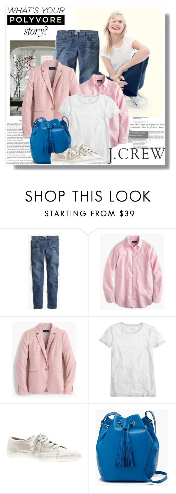 """Spring with J.Crew"" by lidia-solymosi ❤ liked on Polyvore featuring J.Crew, RetroSuperFuture, women's clothing, women, female, woman, misses, juniors, jcrew and sping"
