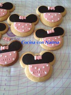 COCINA CON NAIRNA (Mycook y Gm E): Galletas Minnie Fondant