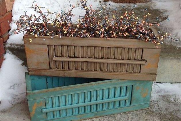Shutter Flower Boxes