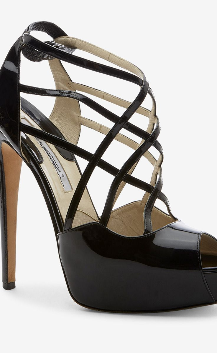 Brian atwood black sandal vaunte heels girls shoes